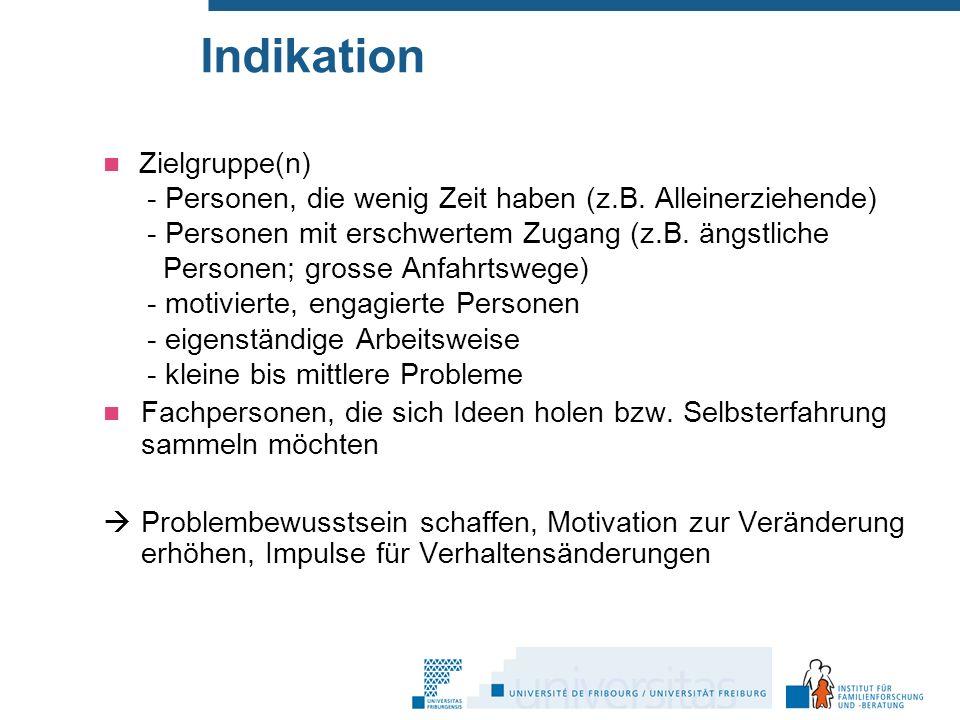 Indikation Zielgruppe(n) - Personen, die wenig Zeit haben (z.B.