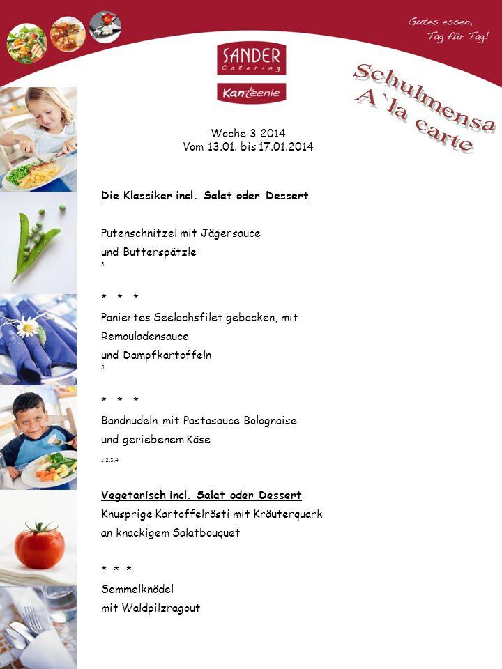 Woche 3 2014 Vom 13.01. bis 17.01.2014 Die Klassiker incl.