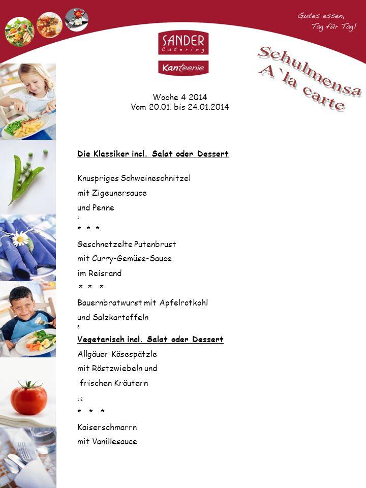 Woche 4 2014 Vom 20.01. bis 24.01.2014 Die Klassiker incl.