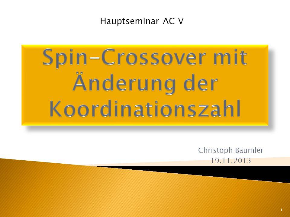Christoph Bäumler 19.11.2013 1 Hauptseminar AC V