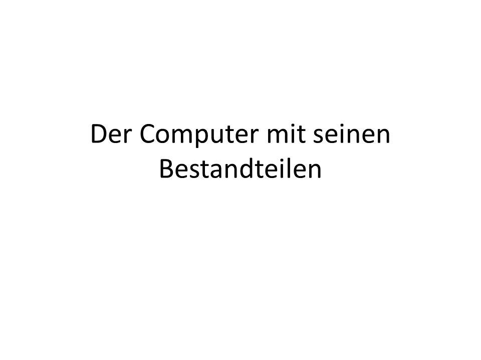 Der Computer mit seinen Bestandteilen