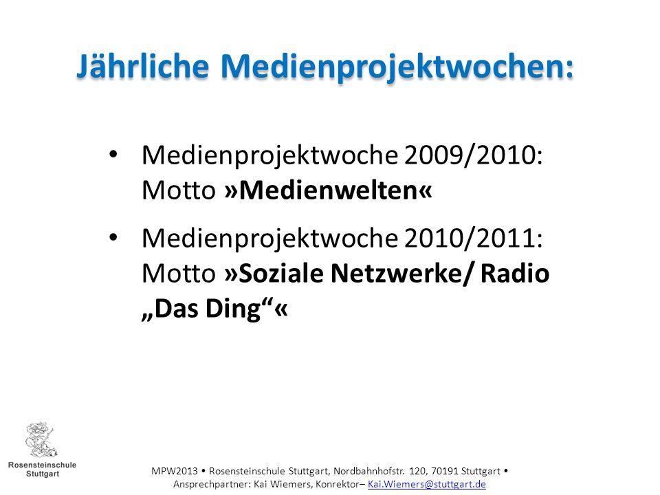 MPW2013 Rosensteinschule Stuttgart, Nordbahnhofstr.