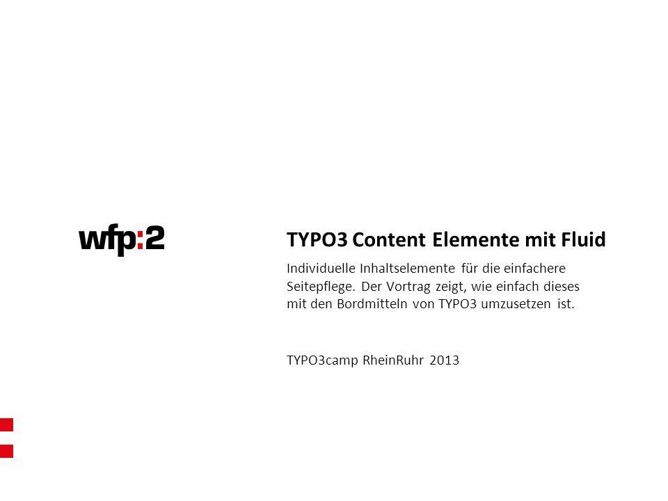 Individuelle Inhaltselemente für die einfachere Seitepflege. Der Vortrag zeigt, wie einfach dieses mit den Bordmitteln von TYPO3 umzusetzen ist. TYP
