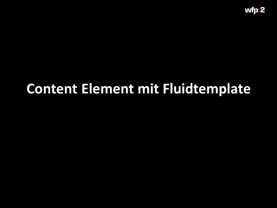 Content Element mit Fluidtemplate