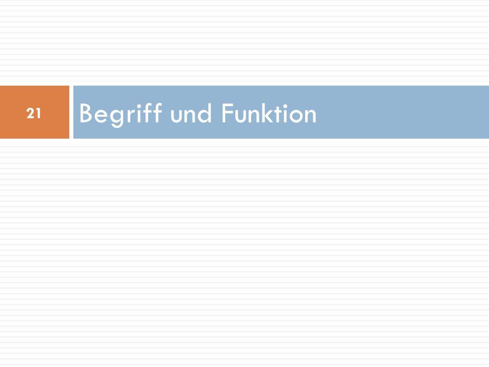 Begriff und Funktion 21