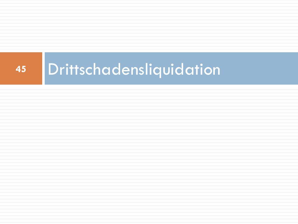 Drittschadensliquidation 45