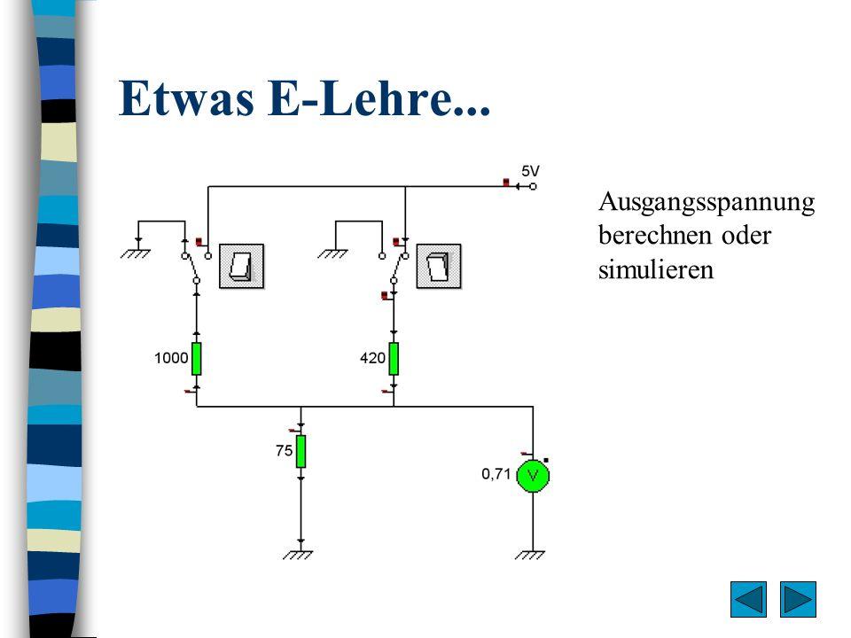 Etwas E-Lehre... Ausgangsspannung berechnen oder simulieren