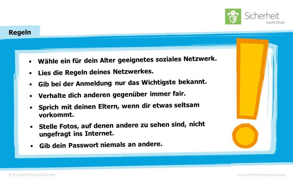 © Microsoft Deutschland GmbHwww.sicherheit-macht-schule.de Ein Spaß mit Folgen Am Abend klingelt es und ihr Lehrer steht vor der Tür …