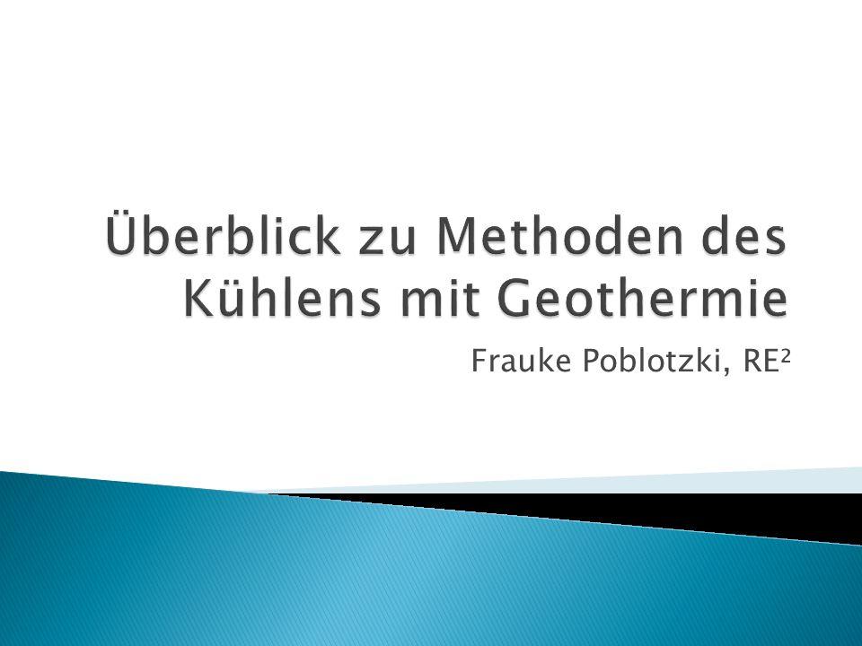 Allgemeines zur Kühlung mit Geothermie Zwei Prinzipien der geothermischen Kühlung Methoden zur Kühlung mit Geothermie Problem & Wirtschaftlichkeit 2