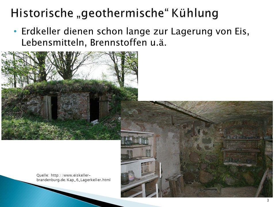 Erdkeller dienen schon lange zur Lagerung von Eis, Lebensmitteln, Brennstoffen u.ä. 3 Quelle: http://www.eiskeller- brandenburg.de/Kap_6_Lagerkeller.h