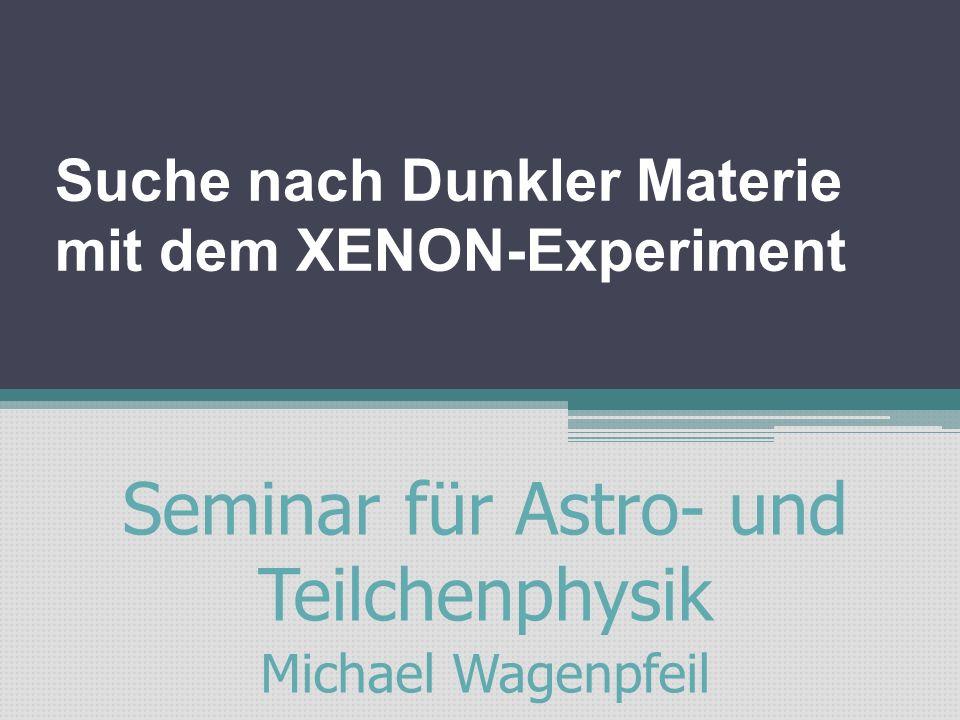 Inhalt: Motivation: Dunkle Materie Idee eines Flüssig-Xenon-Detektors Setup XENON100 Ergebnisse Zusammenfassung Inhaltsverzeichnis 2