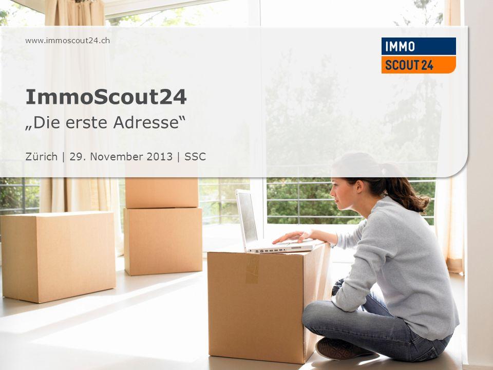 Geschäftsmodell ImmoScout24 Präsentation ImmoScout24   CFR Seite 12 SuchendeImmoScout24 Privatinserenten Business-Kunden Datenbank ImmoScout24 Pro Monat: 939000 Unique User 1,5 Mio.