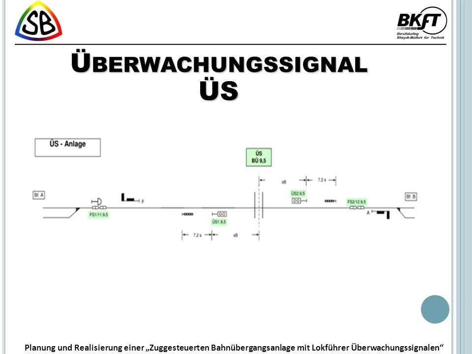 Ü BERWACHUNGSSIGNAL ÜS Planung und Realisierung einer Zuggesteuerten Bahnübergangsanlage mit Lokführer Überwachungssignalen