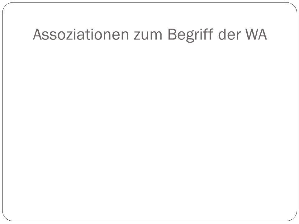 Arbeit in Kleingruppen (bis 5 Personen) Definition von WA Beispiele für persönliche WA Ist WA etwas rationales?