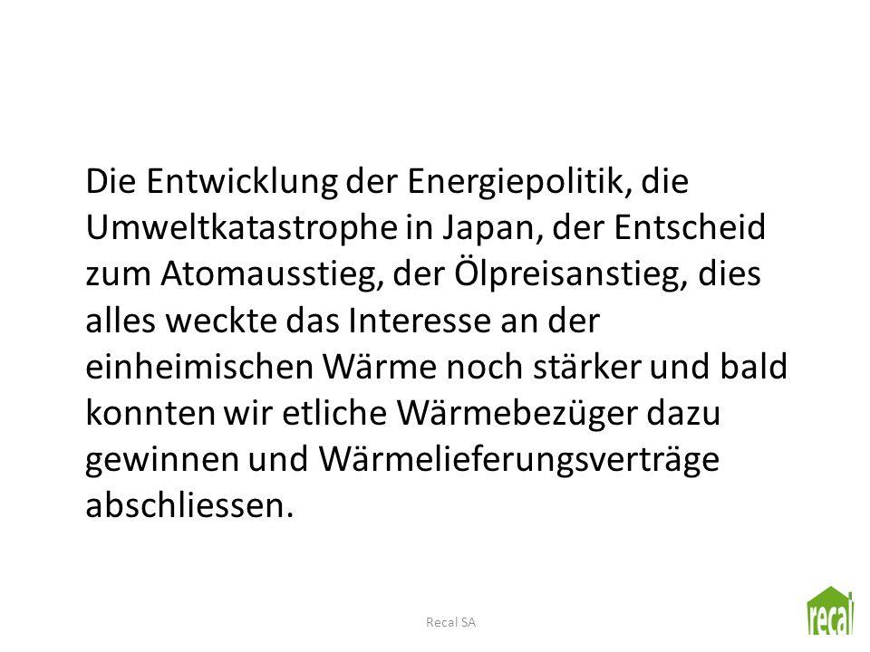 Die Entwicklung der Energiepolitik, die Umweltkatastrophe in Japan, der Entscheid zum Atomausstieg, der Ölpreisanstieg, dies alles weckte das Interess