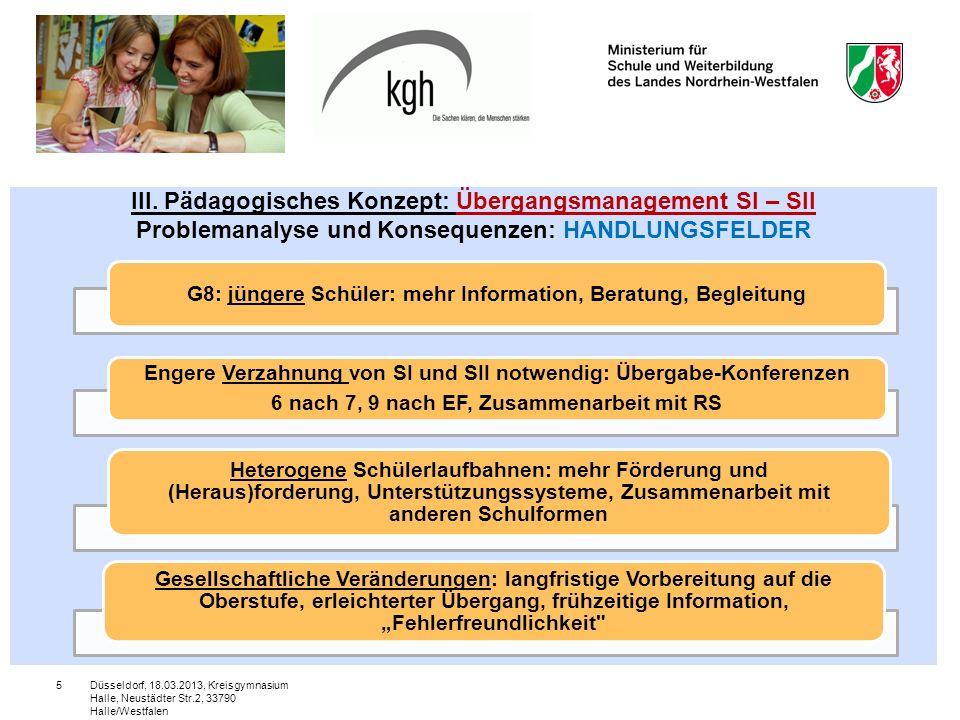 Düsseldorf, 18.03.2013, Kreisgymnasium Halle, Neustädter Str.2, 33790 Halle/Westfalen 5 III.