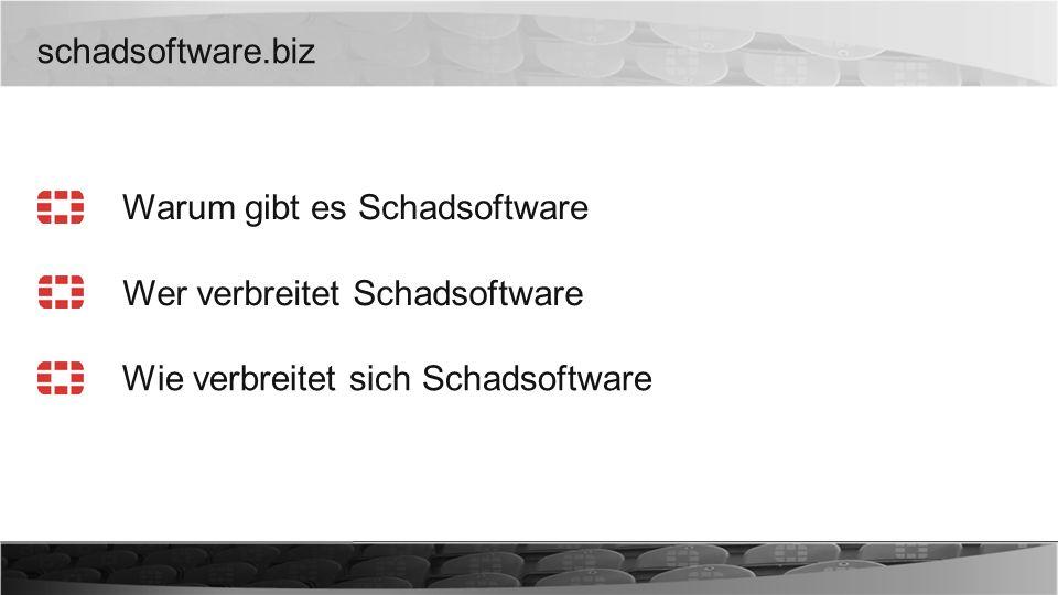 schadsoftware.biz Warum gibt es Schadsoftware Wer verbreitet Schadsoftware Wie verbreitet sich Schadsoftware