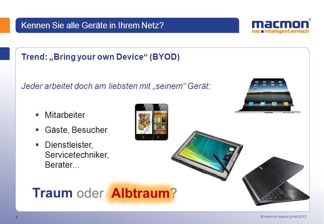 © macmon secure gmbh 2013 5 Kennen Sie alle Geräte in Ihrem Netz.