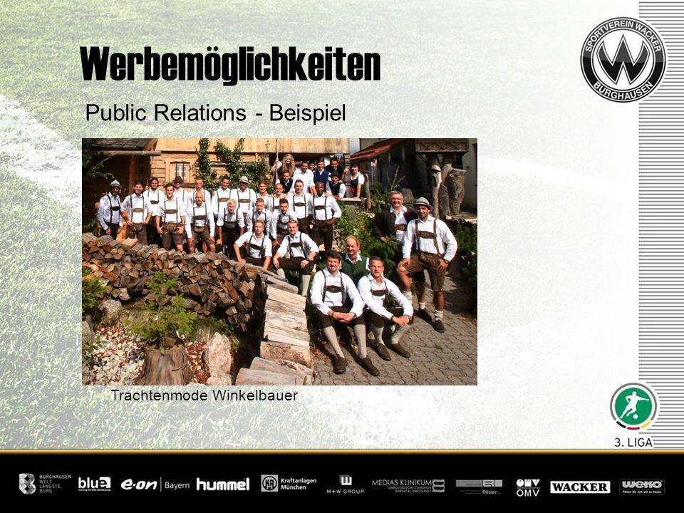 Public Relations - Beispiel Trachtenmode Winkelbauer Werbemöglichkeiten