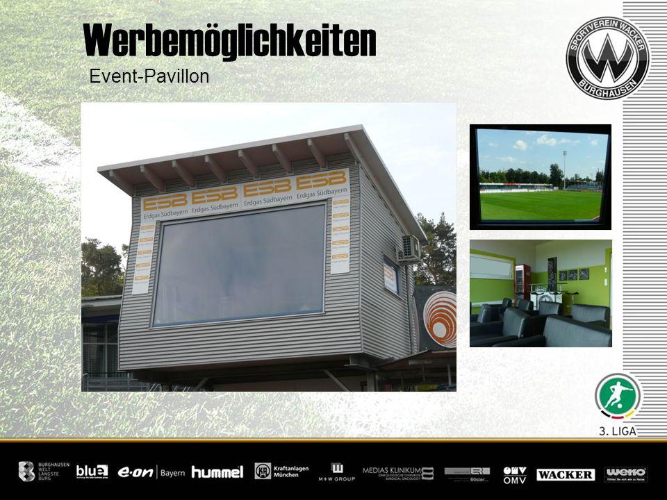 Event-Pavillon Werbemöglichkeiten
