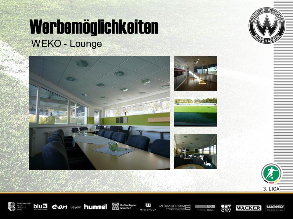 WEKO - Lounge Werbemöglichkeiten