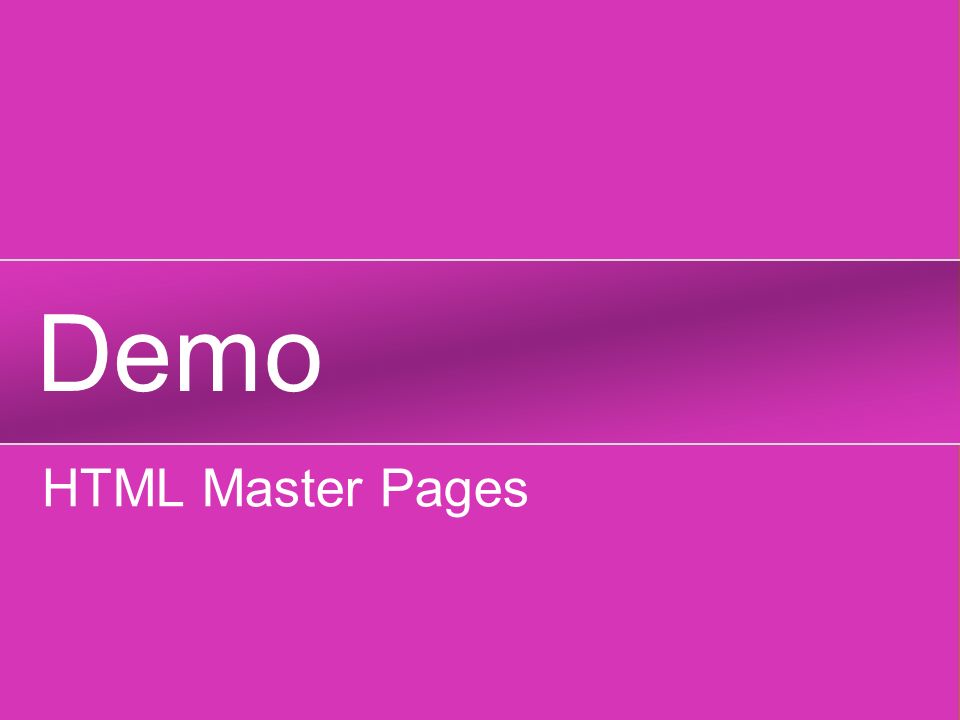 Demo HTML Master Pages