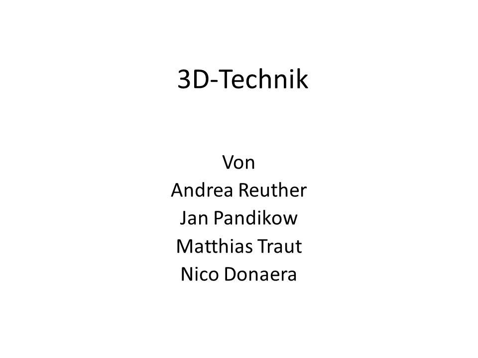 3D-Technik Von Andrea Reuther Jan Pandikow Matthias Traut Nico Donaera