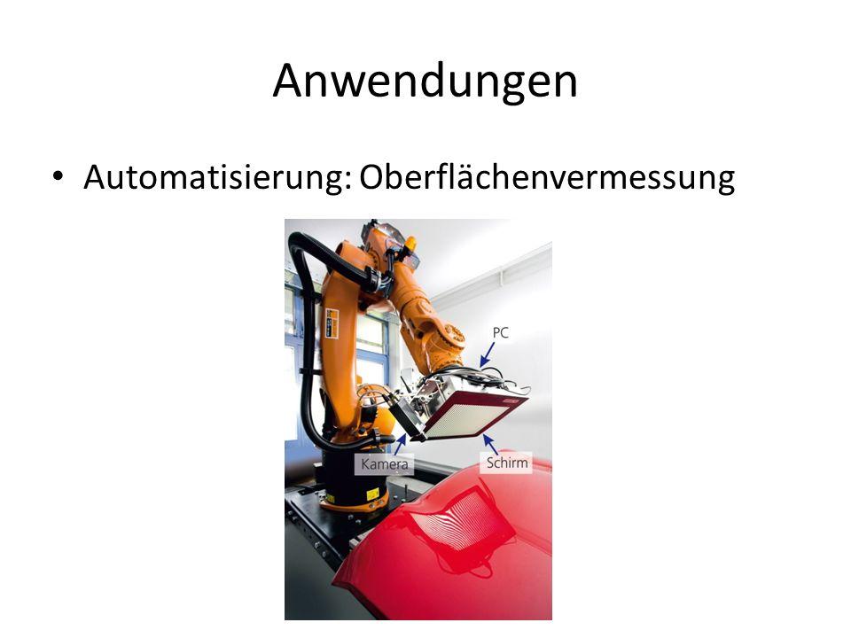 Anwendungen Automatisierung: Oberflächenvermessung