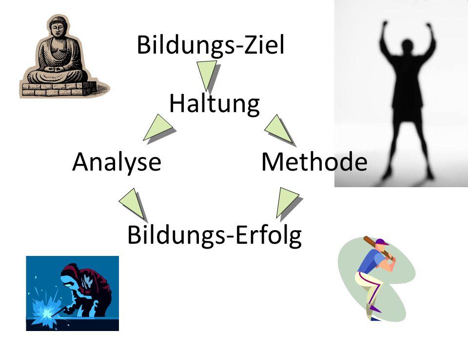 Bildungs-Ziel Haltung AnalyseMethode Bildungs-Erfolg
