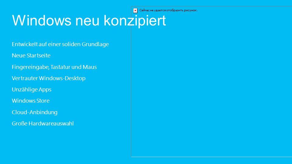Ein besseres Windows 7 als Windows 7 Kürzere Startzeiten Längere Akkulaufzeit Höhere Leistung Mehr Sicherheit Schnellere WLAN-Verbindungswiederherstellung Verbesserungen für mehrere Bildschirme Leistungsstärkerer Datei-Explorer mit Menüband-Benutzeroberfläche Verbesserter Task-Manager Plus weitere neue Vorteile von Windows 8…