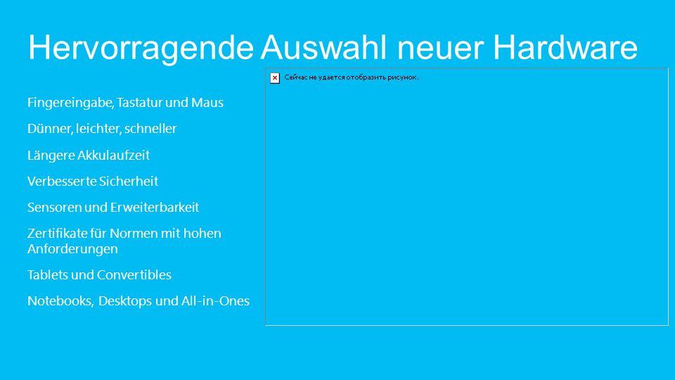 Windows 8 Pro: Schnell, flüssig und personalisiert.