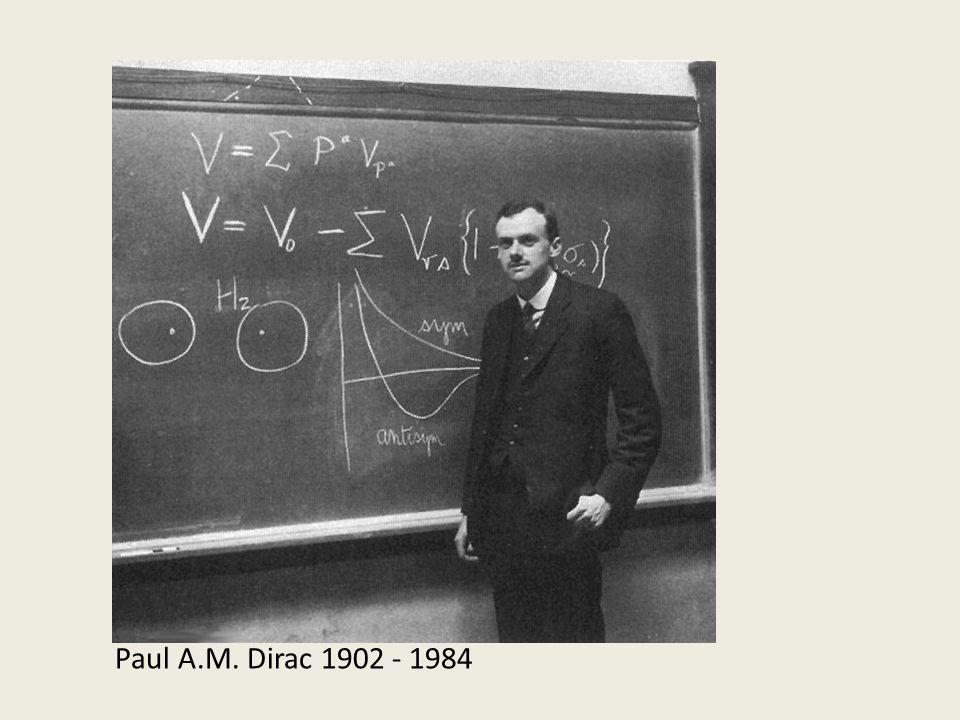 Paul A.M. Dirac 1902 - 1984