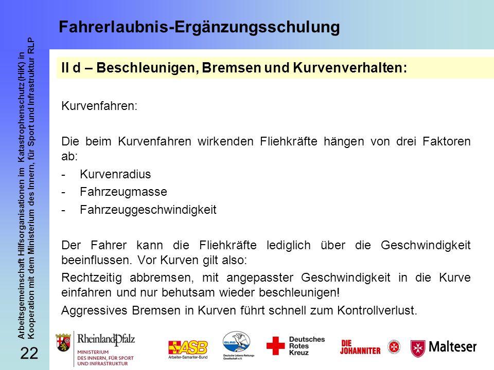 22 Arbeitsgemeinschaft Hilfsorganisationen im Katastrophenschutz (HiK) in Kooperation mit dem Ministerium des Innern, für Sport und Infrastruktur RLP