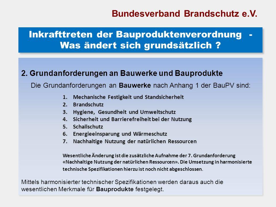 Inkrafttreten der Bauproduktenverordnung - Was ändert sich grundsätzlich ? Inkrafttreten der Bauproduktenverordnung - Was ändert sich grundsätzlich ?