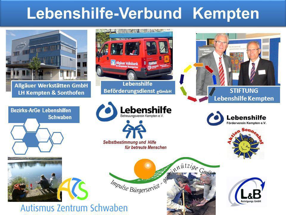 Lebenshilfe-Verbund Kempten Lebenshilfe Beförderungsdienst gGmbH Bezirks-ArGe Lebenshilfen Schwaben Allgäuer Werkstätten GmbH LH Kempten & Sonthofen