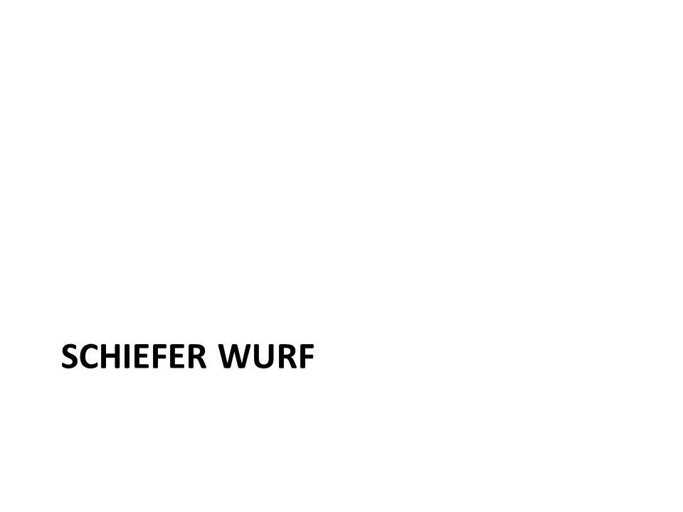 SCHIEFER WURF