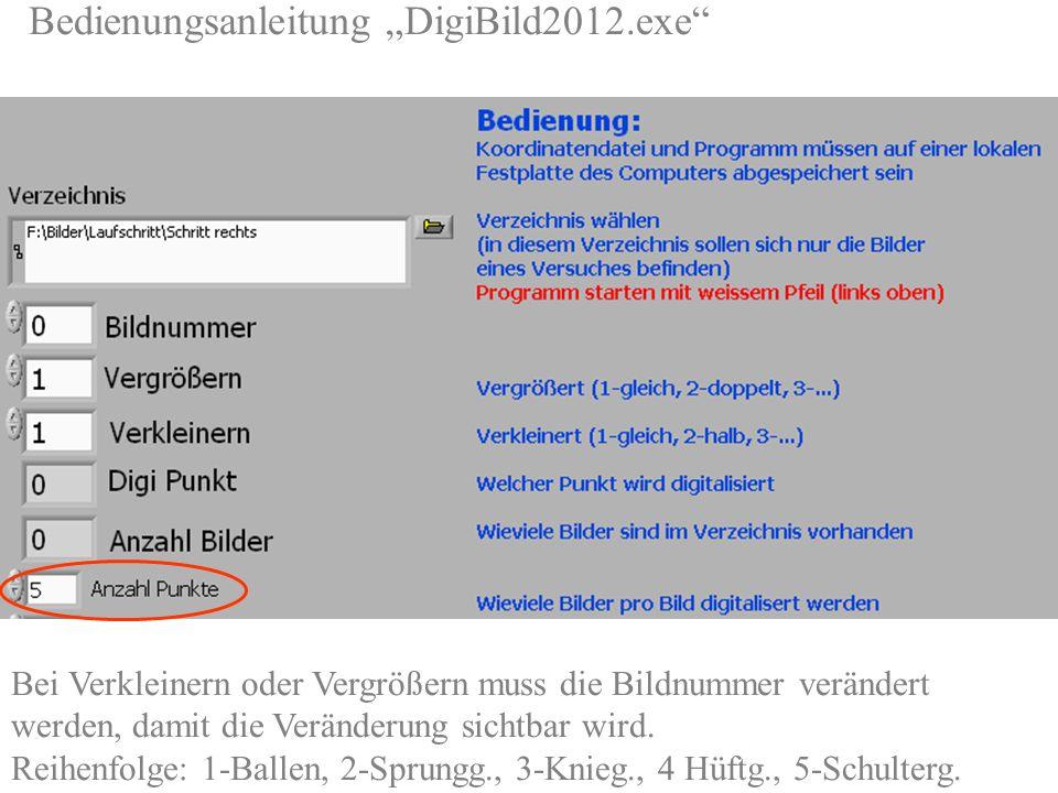 Bedienungsanleitung DigiBild2012.exe http://sport1.uibk.ac.at/lehre/kurt/Programme/Digitalisieren/ Bei Verkleinern oder Vergrößern muss die Bildnummer