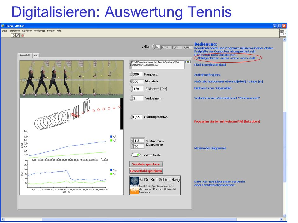 Digitalisieren: Auswertung Tennis