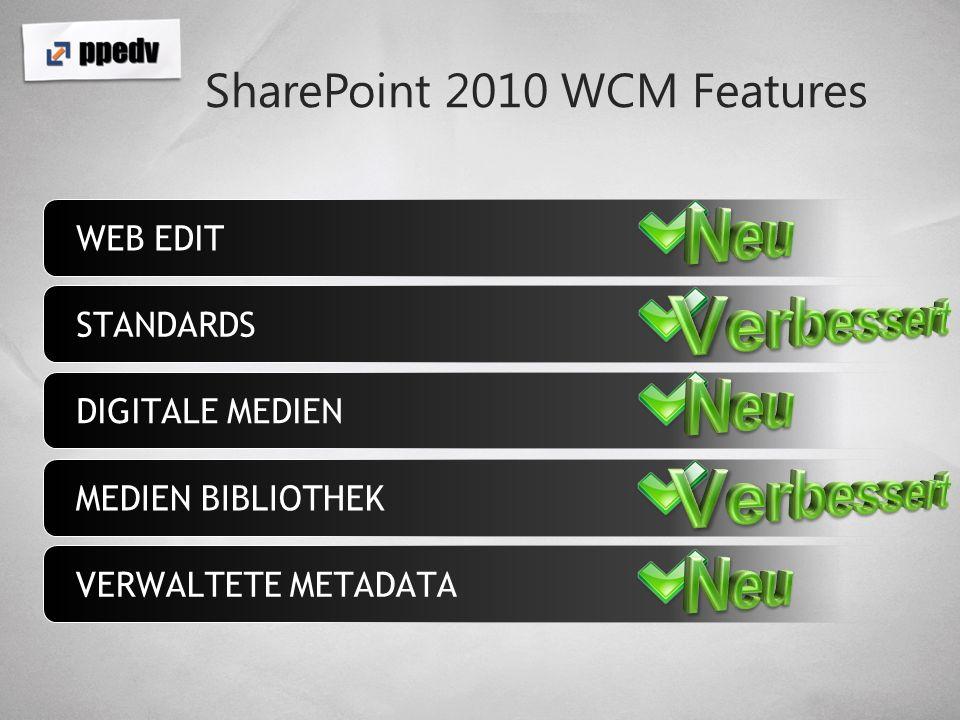 Workflows Verbesserungen in SharePoint Designer Support für InfoPath-Formulare Wiederverwendbare Workflows