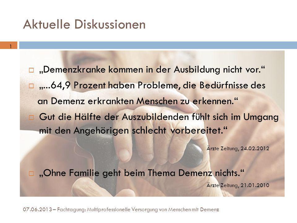 Ursachen – Demografischer Wandel 07.06.2013 – Fachtagung: Multiprofessionelle Versorgung von Menschen mit Demenz 2