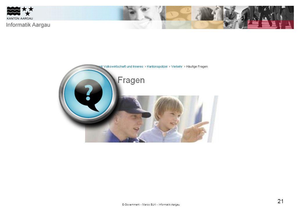 E-Government - Marco Bürli - Informatik Aargau 21