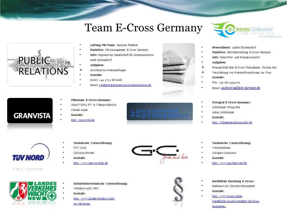 Team E-Cross Germany Rechtliche Beratung E-Cross: Rechtsanwalt Christian Hansmeyer Kontakt: http://www.rh-anwaelte- bielefeld.de/kanzlei-bielefeld/chr