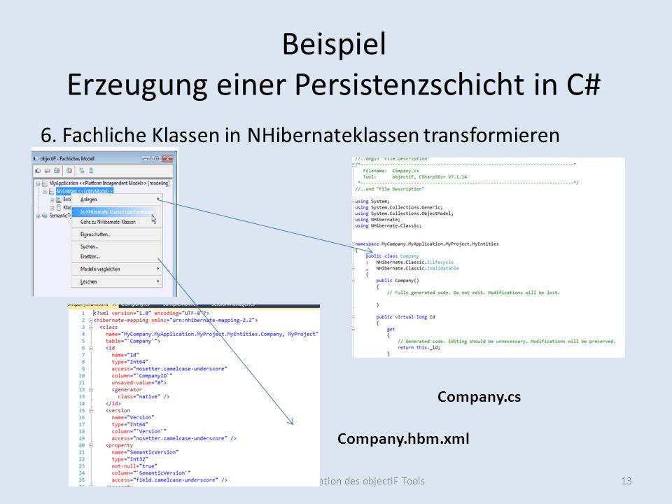 Beispiel Erzeugung einer Persistenzschicht in C# 6.