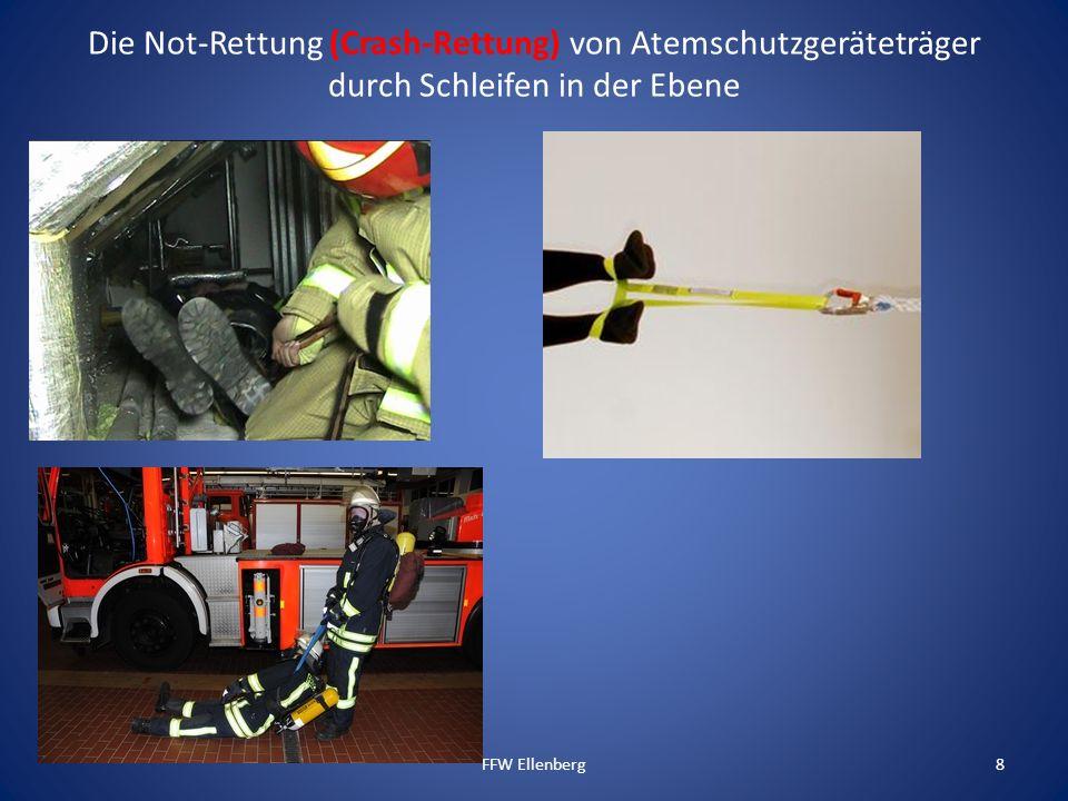 Die Not-Rettung (Crash-Rettung) von Atemschutzgeräteträger durch Schleifen in der Ebene FFW Ellenberg8