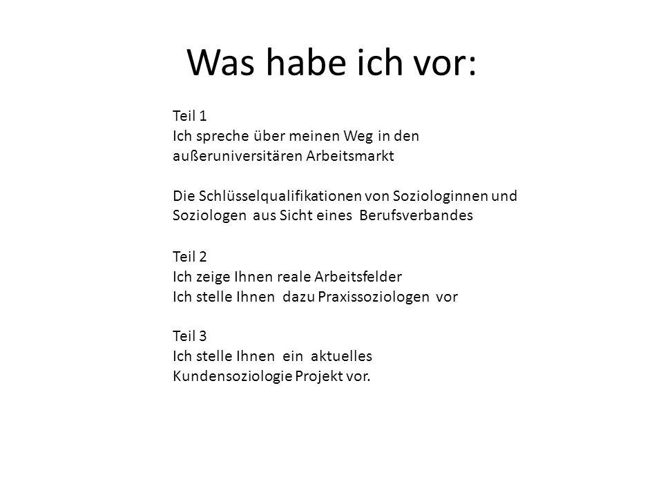 13 Berufsfelder : Berufsverband Deutscher Soziologinnen und Soziologen e.V.