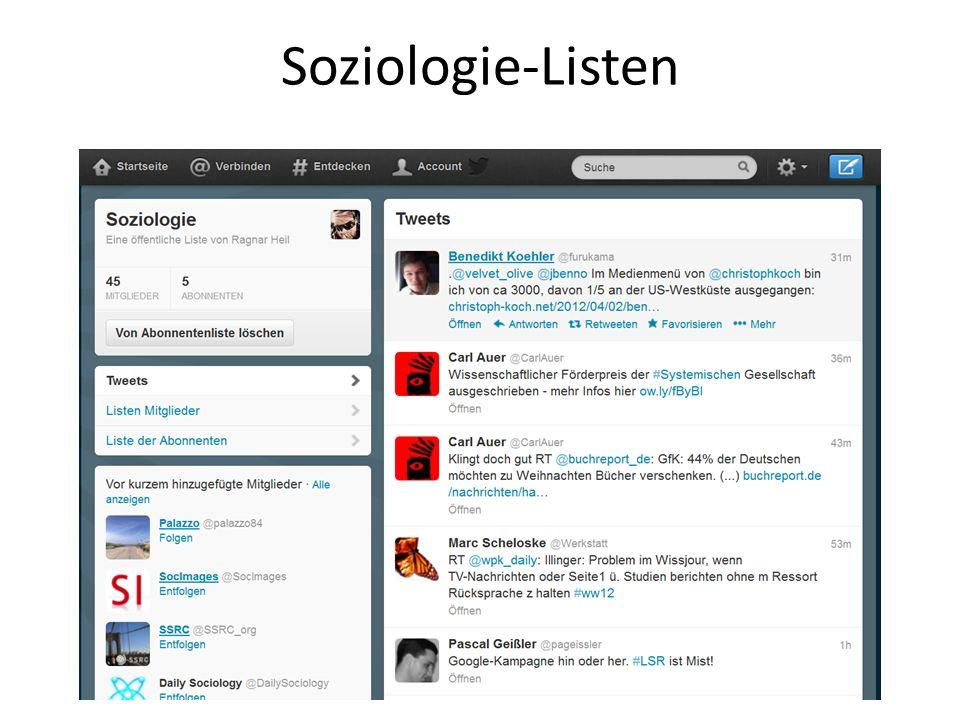 Soziologie-Listen