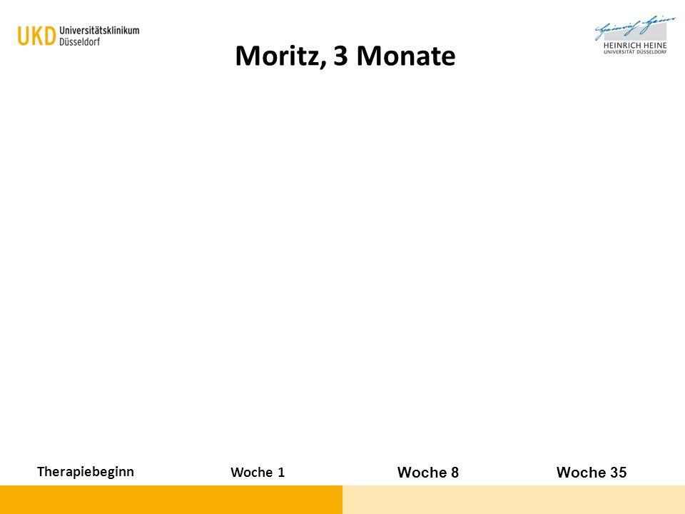 Moritz, 3 Monate Therapiebeginn Woche 1 Woche 8 Woche 35