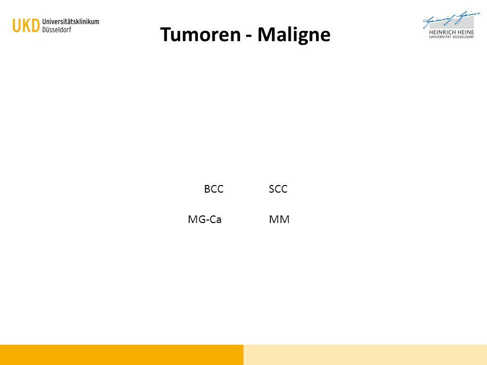 Tumoren - Maligne BCCSCC MMMG-Ca