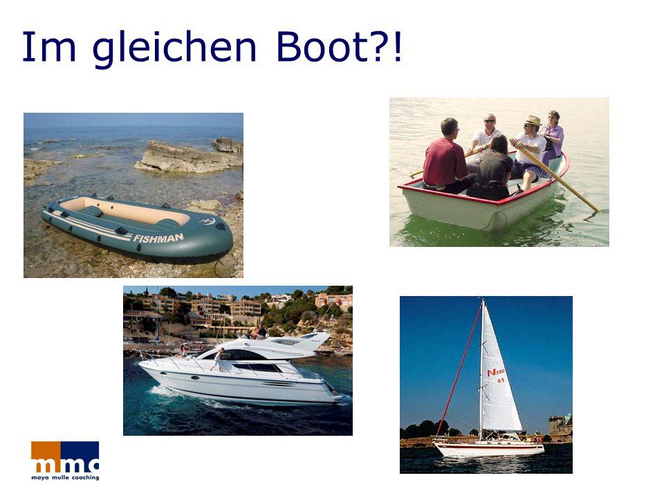 Im gleichen Boot?!