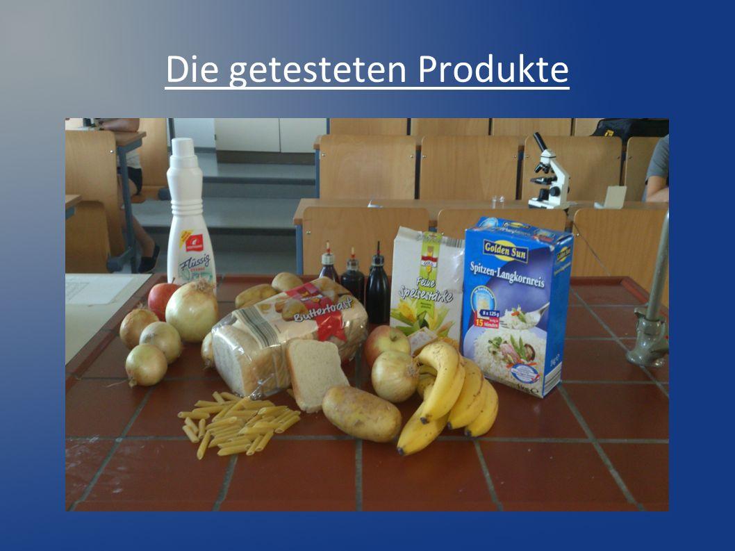 Die getesteten Produkte